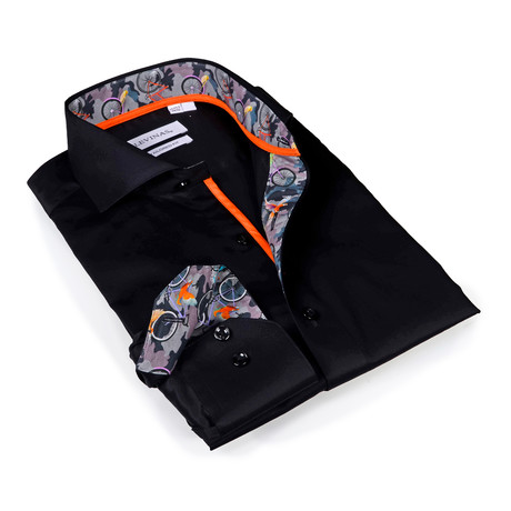 Charles Button-Up Shirt // Black Camouflage (S)