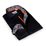 Button-Up Shirt // Black+Camo (L)