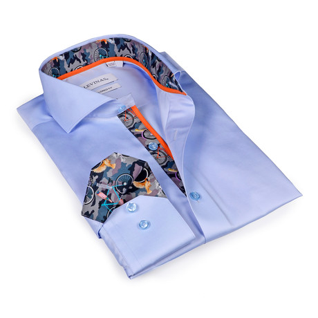 Thomas Button-Up Shirt // Light Blue Camouflage (S)