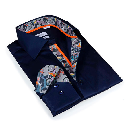 Miles Button-Up Shirt // Navy Camouflage (S)