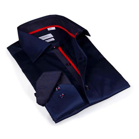 Ezra Button-Up Shirt // Navy (S)