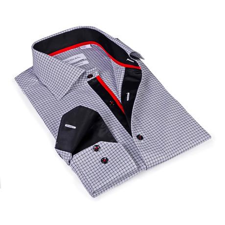 Wyatt Button-Up Shirt // Black + White (S)