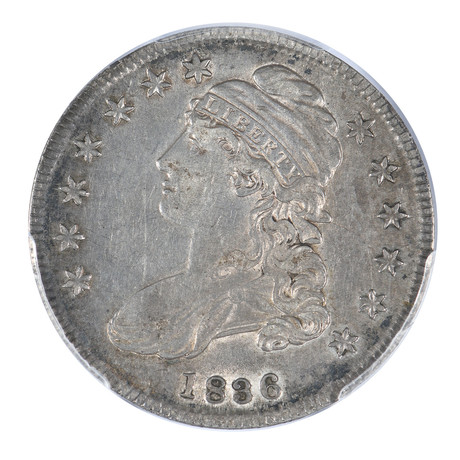 1836 Capped Bust Half Dollar, Lettered Edge, PCGS Certified XF40