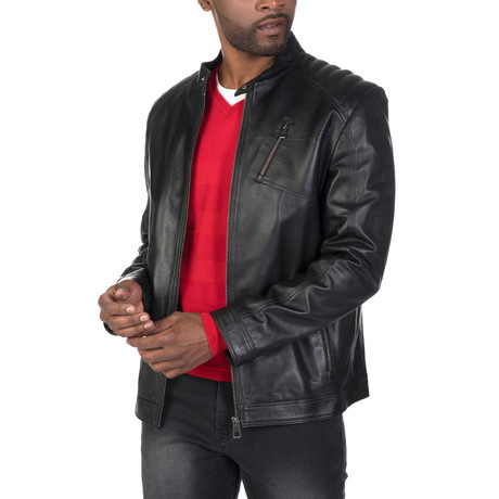 Eldridge Leather Jacket // Black (S)
