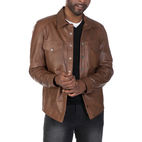 Arthur Leather Jacket // Chestnut (S)