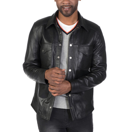 Lafayette Leather Jacket // Black (S)