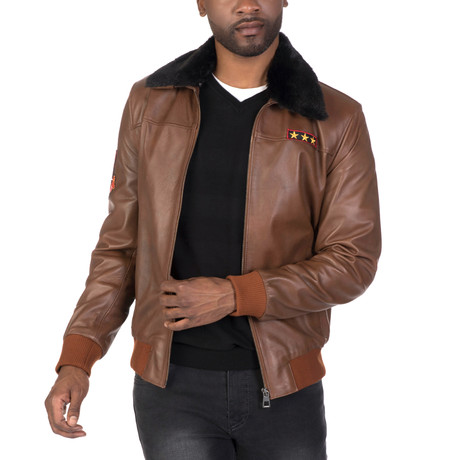 Wall Leather Jacket // Chestnut (S)