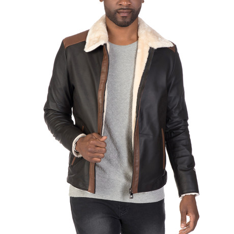 Lenox Leather Jacket // Brown (S)