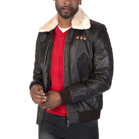Steinway Leather Jacket // Brown (S)
