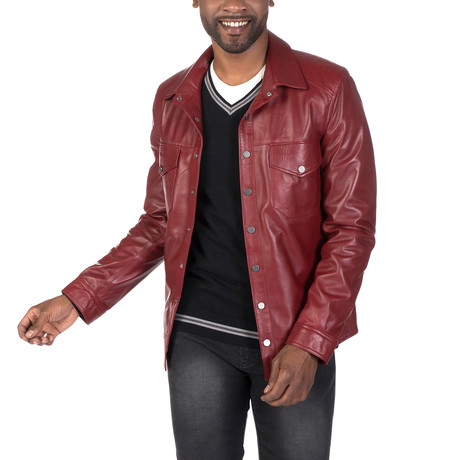 Rivington Leather Jacket // Bordeaux (S)