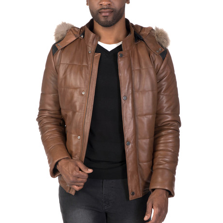 Bleecker Leather Jacket // Chestnut (3XL)