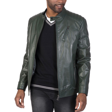 Wooster Leather Jacket // Green (S)