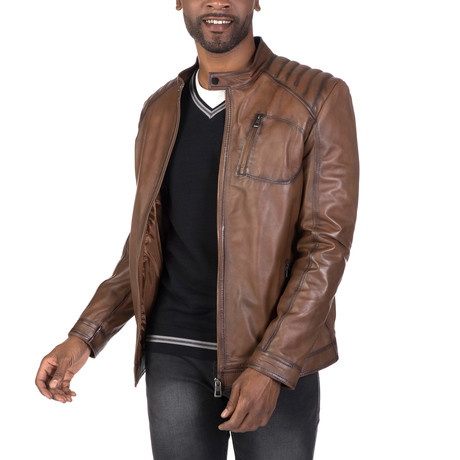 Utopia Leather Jacket // Chestnut (S)