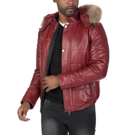 Delancey Leather Jacket // Bordeaux (S)