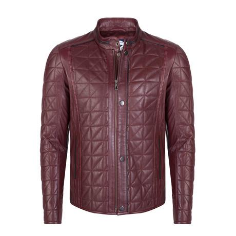 Cortlandt Leather Jacket // Bordeaux (S)