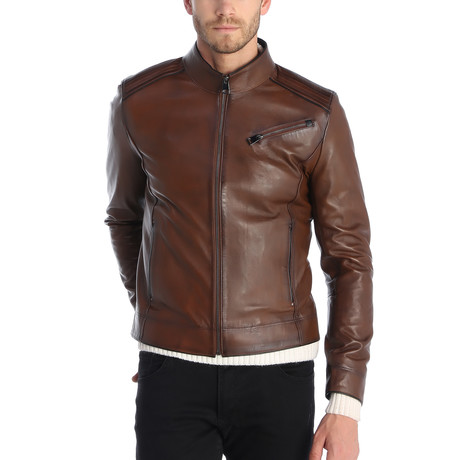 Beekman Leather Jacket // Chestnut (S)