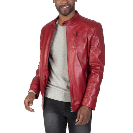 Mercer Leather Jacket // Red (S)