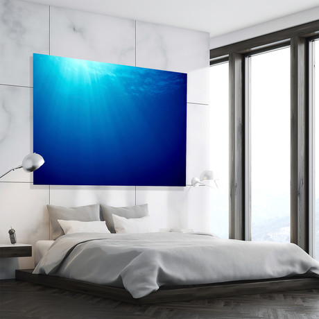 "Nothing But Blues // High Gloss Panel (12""W x 15""H x 0.5""D)"