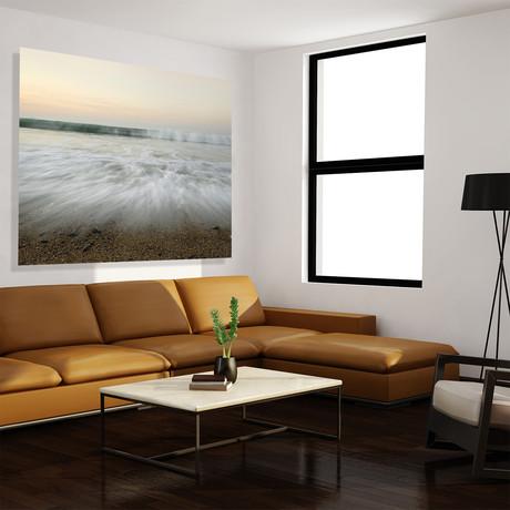 "Gentle Waves // High Gloss Panel (12""W x 15""H x 0.5""D)"