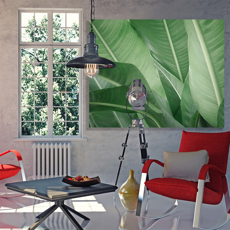 "Green Beauty // Canvas (12""W x 15""H x 2""D)"