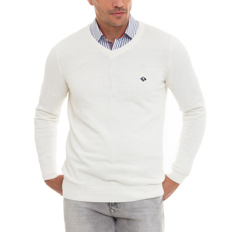 Sourty V-Neck Pullover // Ecru (S)