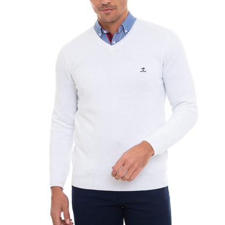 Vadatino V-Neck Pullover // White (S)