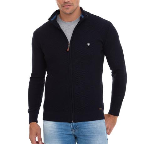 Everest Full Zip Sweater // Navy (S)