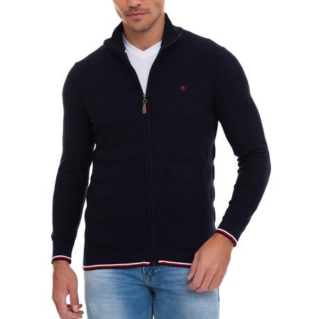 Sheets Full Zip Sweater // Black (S)