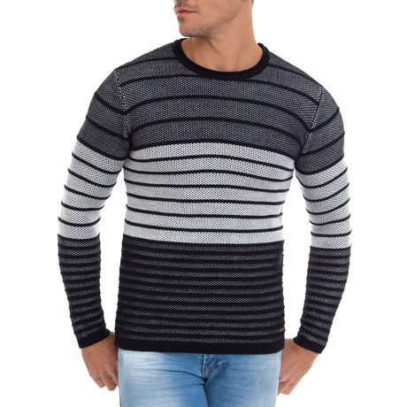 Linea Striped Pullover // Navy (S)