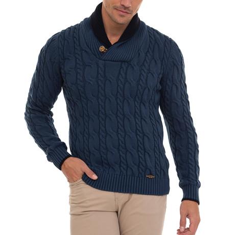 Over Shawl Collar Pullover // Indigo (S)