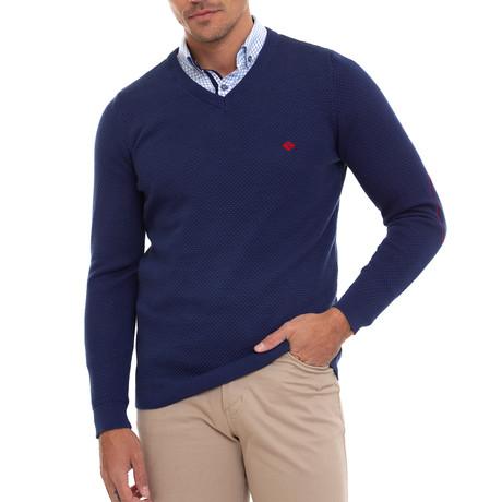 Sourty V-Neck Pullover // Indigo (S)