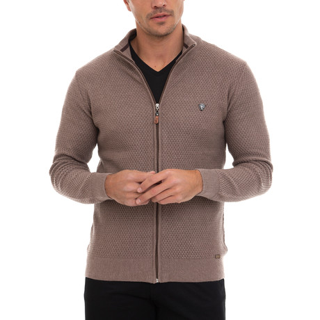 Cardana Full Zip Sweater // Vizonte (S)