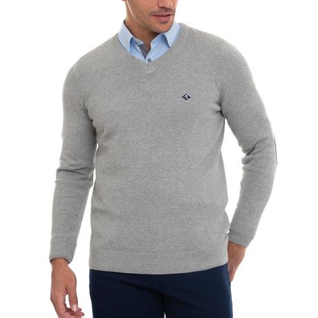 Sourty V-Neck Pullover // Gray Melange (S)