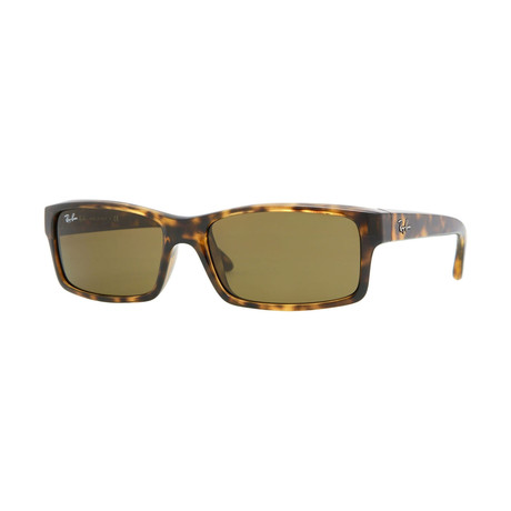 Men's Rectangular Sunglasses // Tortoise + Brown Classic