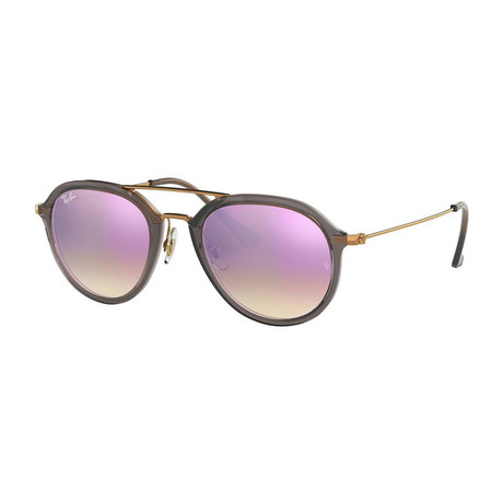 Men's Future Pilot Sunglasses // Gray + Bronze Copper + Lilac Gradient