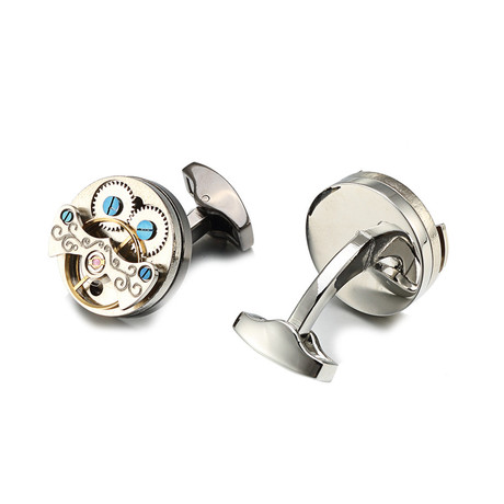 Bridgewater Watch Cufflink // Silver