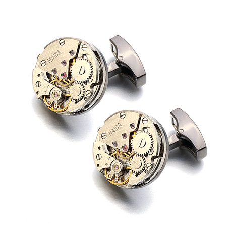 Mont Watch Cufflink // Brushed Silver