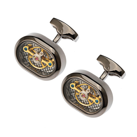 Lourde Watch Gear Cufflink // Gunmetal Black + Gold
