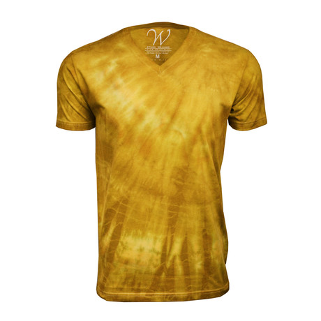 Ultra Soft Hand Dyed V-Neck // Mustard (S)