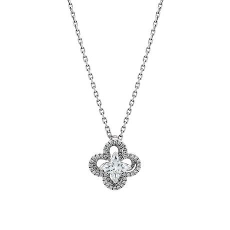 Louis Vuitton Platinum Ardentes Diamond Necklace // Pre-Owned