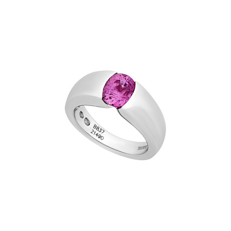 Boucheron 18k White Gold Pink Sapphire Ring // Ring Size: 6 // Pre-Owned