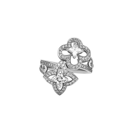 Louis Vuitton 18k White Gold Les Ardentes Diamond Ring // Ring Size: 4.75 // Pre-Owned