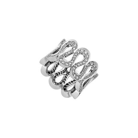 Boucheron 18k White Gold Pave Diamond Ring // Ring Size: 5.25 // Pre-Owned