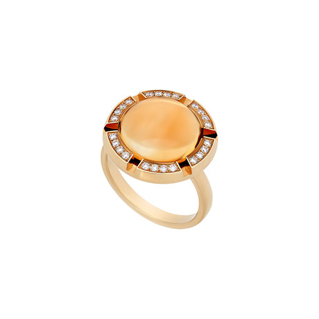 Chaumet 18k Yellow Gold Citrine + Diamond Ring // Ring Size: 6.25 // Pre-Owned