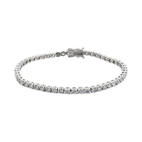 Estate 18k White Gold Diamond Tennis Bracelet // Pre-Owned