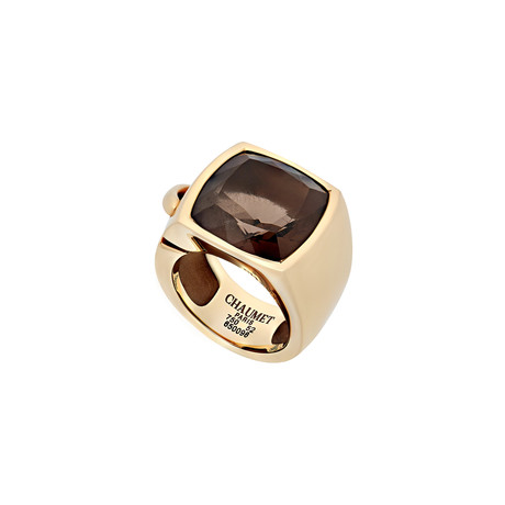 Chaumet 18k Yellow Gold Smoky Quartz Ring // Ring Size: 6 // Pre-Owned