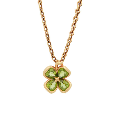 Chanel 18k Yellow Gold Peridot Necklace // Pre-Owned