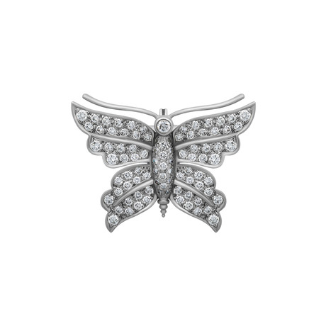 Tiffany & Co. Platinum Butterfly Diamond Brooch // Pre-Owned