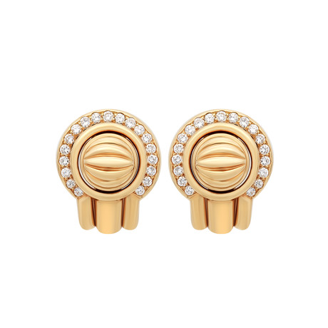 Piaget 18k Yellow Gold Diamond Earrings // Pre-Owned