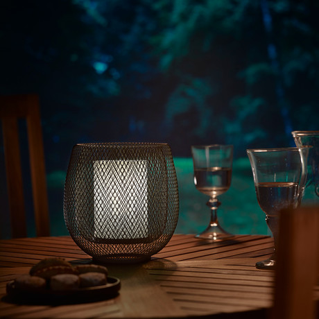 Mesh Lamp + Glass Cylinder